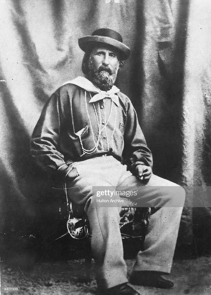Giuseppe Garibaldi (1807 - 1882), Italian nationalist revolutionary and leader in the struggle for the unification of Italy and its liberation from rule by the Austro-Hungarian Empire.