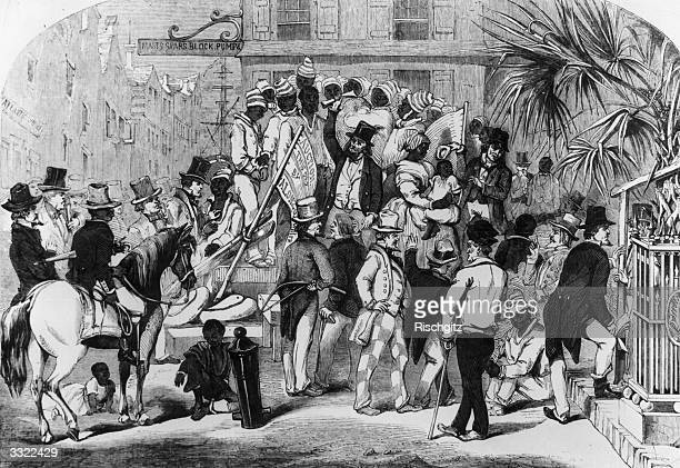 Slaves being sold at Charleston South Carolina Original Artwork Engraving by Eyrecrowe
