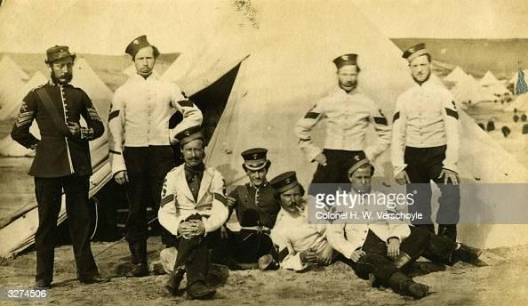 Soldiers at a military camp at Aldershot