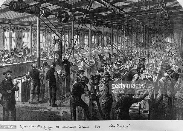 Manufacture of the Armstrong Gun at the Woolwich Arsenal Original Publication Illustrated London News 'The Beehive'