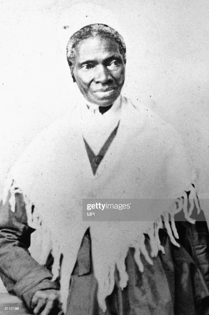 Former slave Sojourner Truth (1797 - 1883), freed when New York state abolished slavery she became a campaigner for women's rights and abolition.