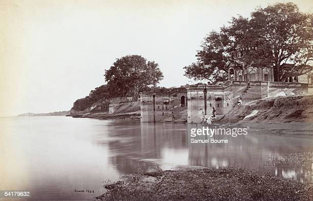 The Suttee Chowra Ghat at Kanpur on the River Ganges scene of a massacre during the Indian Mutiny of 1857