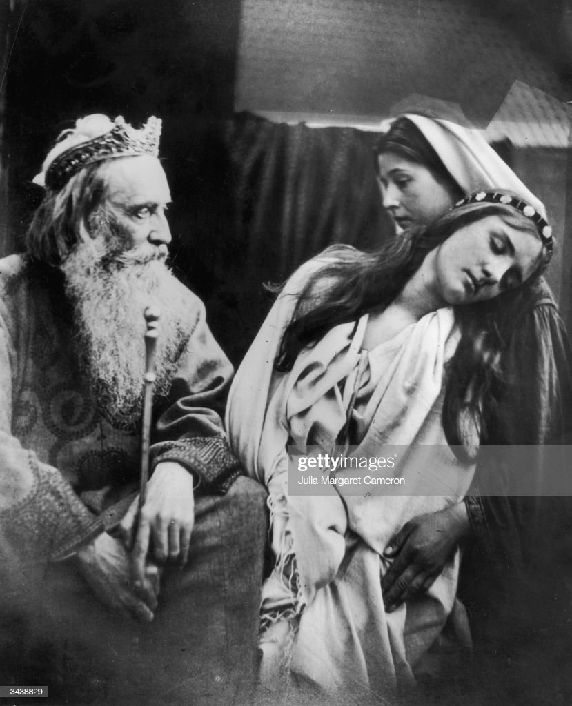 A scene from Shakespeare's play King Lear depicted by Julia Margaret Cameron