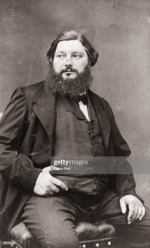 French painter Jean Desire Gustave Courbet one of the founders of the 19th century school of Realist painting