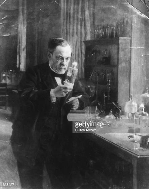 French scientist Louis Pasteur in his laboratory Original Publication From a painting by Edelfeldt