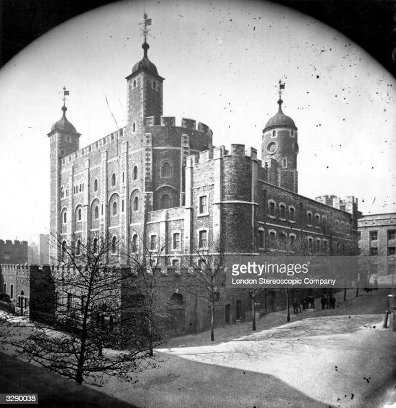 The White Tower at the Tower of London a fortress on the River Thames It has served as a palace and a main state prison and nowadays is a museum