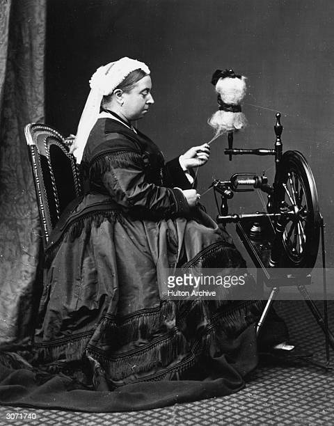 Queen Victoria at her spinning wheel