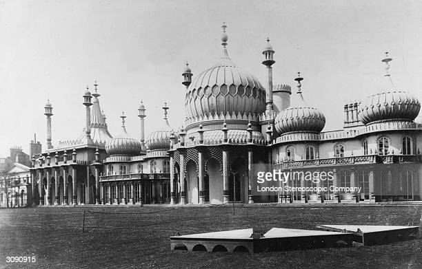 The Royal Pavilion in Brighton the residence of the Prince of Wales The building was designed in the early 19th century by John Nash and modelled...