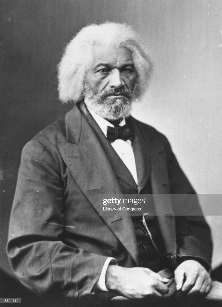 American journalist, author, former slave and abolitionist <a gi-track='captionPersonalityLinkClicked' href=/galleries/search?phrase=Frederick+Douglass&family=editorial&specificpeople=95956 ng-click='$event.stopPropagation()'>Frederick Douglass</a> (circa 1818 - 1895).
