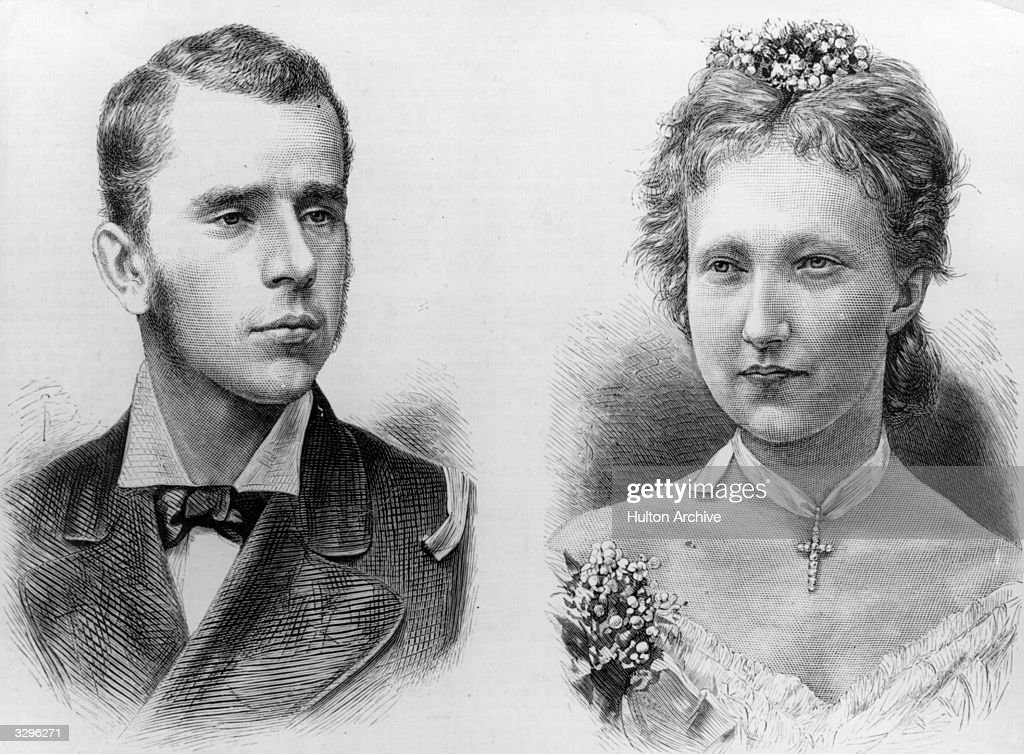 Crown Prince Rudolph of Austria (1858-1889) and his bride, Princess Stephanie of Belgium.