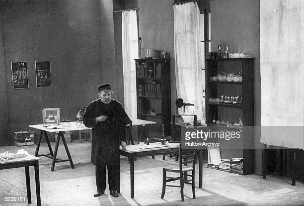 French chemist Dr Louis Pasteur the father of modern bacteriology pursues his studies in his laboratory at the Ecole Normale in Paris