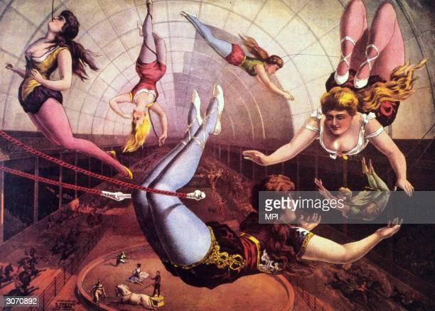A circus trapeze act