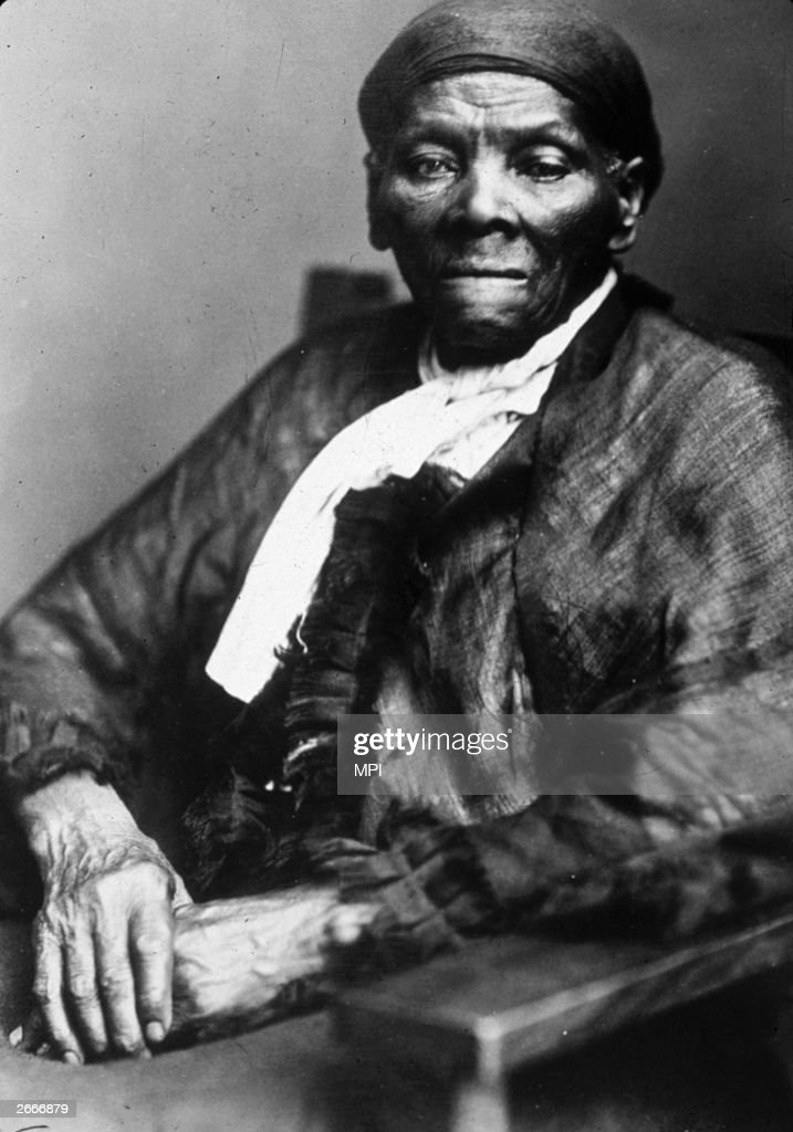 American abolitionist leader and former slave Harriet Tubman (1820 - 1913), who led over 300 escaped slaves to freedom, including her parents, through the underground railroad.