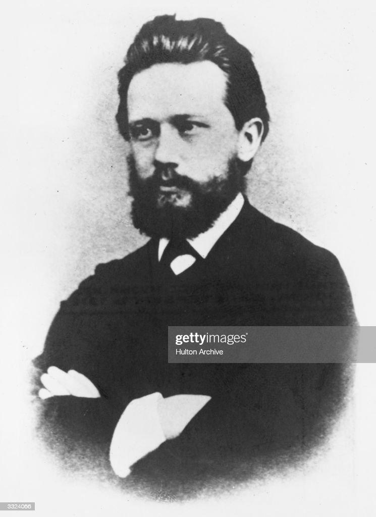 Russian composer Piotr Ilyich Tchaikovsky (1840 - 1893).