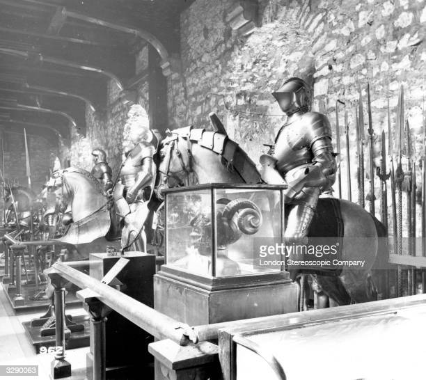 The Armoury in the Tower of London the fortress on the Thames begun soon after 1066 and later extended It has served as a palace a main state prison...