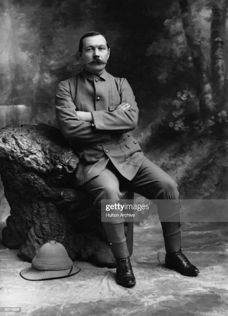 The novelist Sir <a gi-track='captionPersonalityLinkClicked' href=/galleries/search?phrase=Arthur+Conan+Doyle&family=editorial&specificpeople=203200 ng-click='$event.stopPropagation()'>Arthur Conan Doyle</a> (1859 - 1930) and creator of Sherlock Holmes.