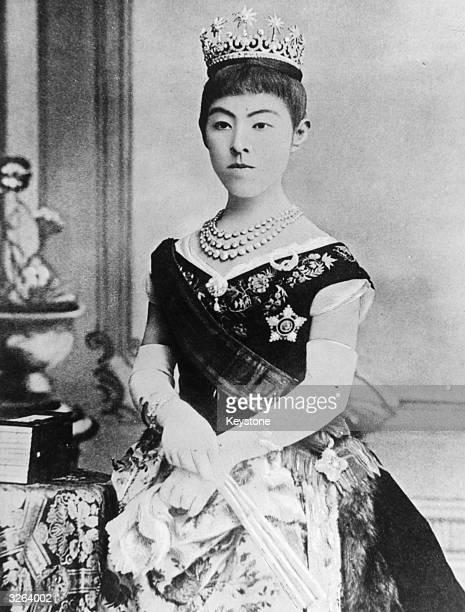 The wife of the Japanese Emperor Meiji the Empress Haruko