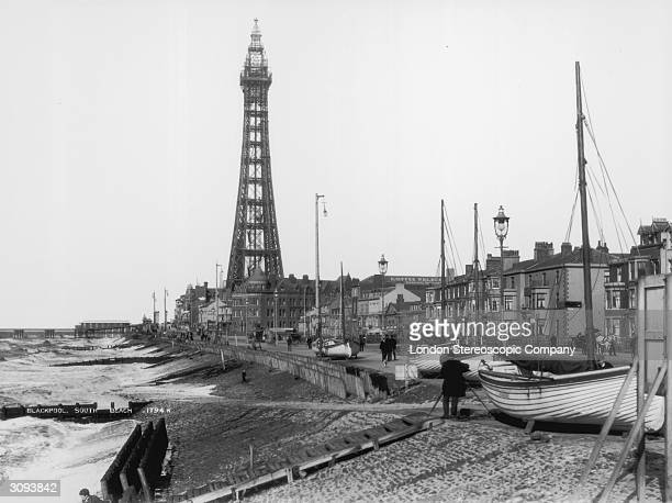 Blackpool Tower near South Beach in Blackpool Lancashire