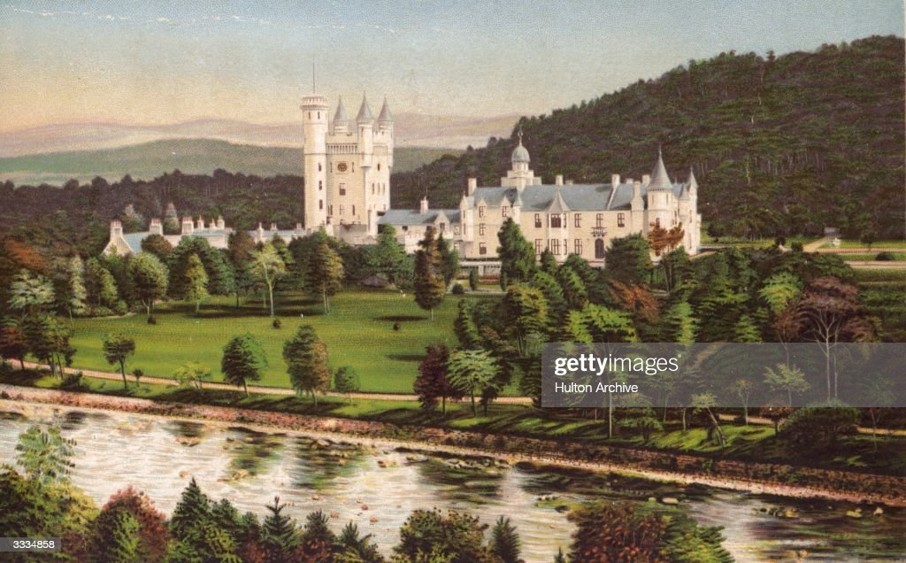 Balmoral Castle Beside The River Dee In Aberdeenshire