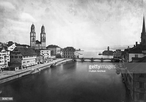 Bridge over the river in Zurich