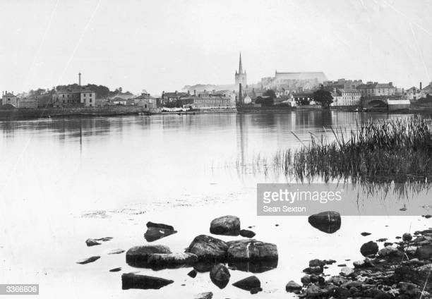 Enniskillen town on the shores of Lough Erne in County Fermanagh
