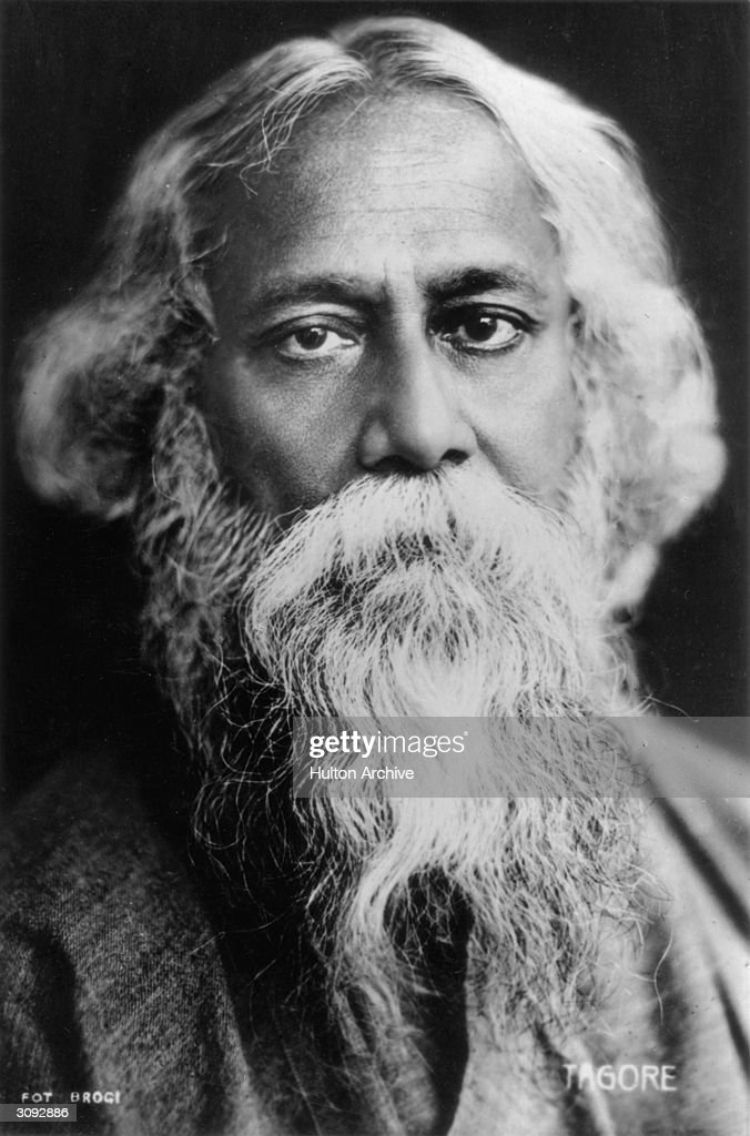 Indian poet and philosopher Sir <a gi-track='captionPersonalityLinkClicked' href=/galleries/search?phrase=Rabindranath+Tagore&family=editorial&specificpeople=644181 ng-click='$event.stopPropagation()'>Rabindranath Tagore</a> (1861 - 1941).