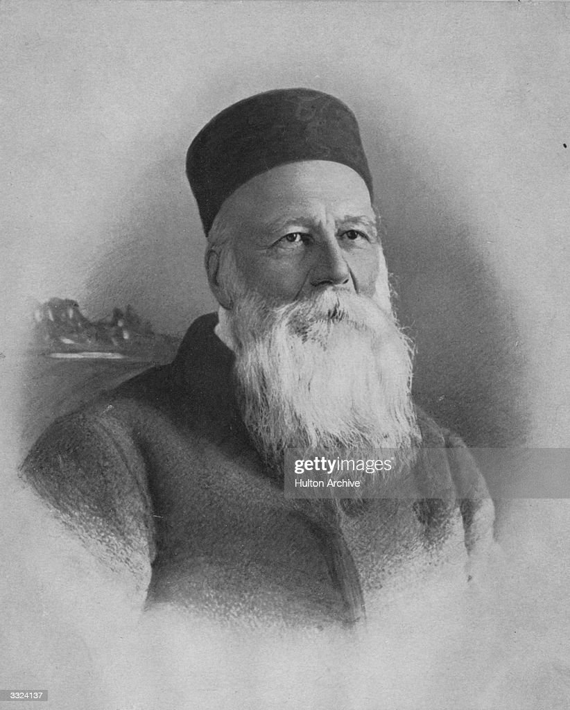 Swiss philanthropist and founder of the Red Cross Jean Henri Dunant (1828 - 1910).