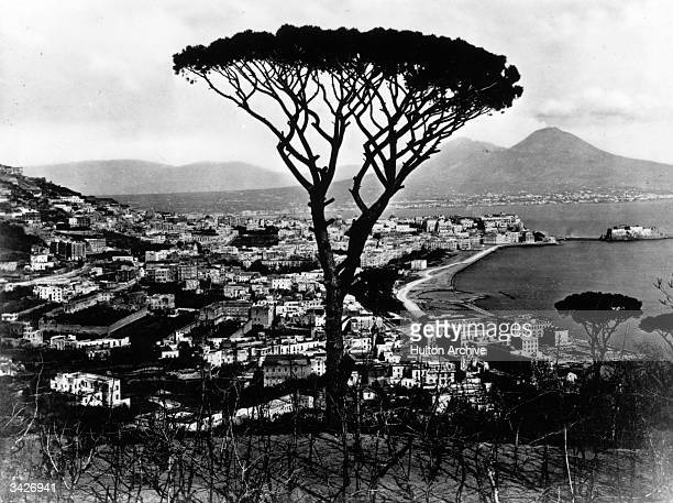 The Bay of Naples seen from the tomb of the Roman writer and poet Virgil