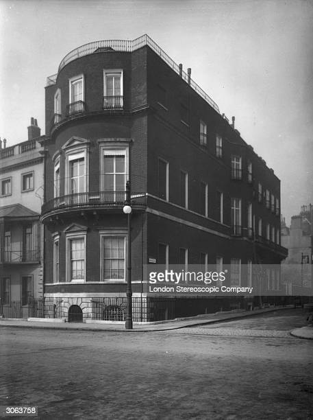 The residence of famous philanthropist Baroness Angela Georgina Burdett Coutts off Stratton Street Piccadilly London