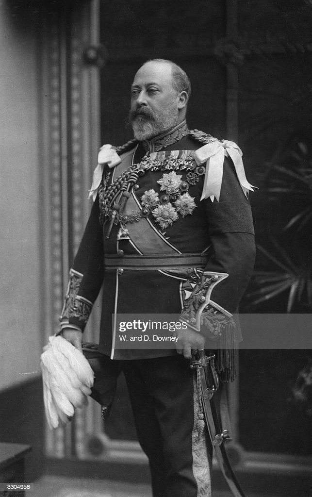 King <a gi-track='captionPersonalityLinkClicked' href=/galleries/search?phrase=Edward+VII&family=editorial&specificpeople=107207 ng-click='$event.stopPropagation()'>Edward VII</a>, (1841 - 1910), who ascended the British throne in 1901, on the death of his mother Queen Victoria.