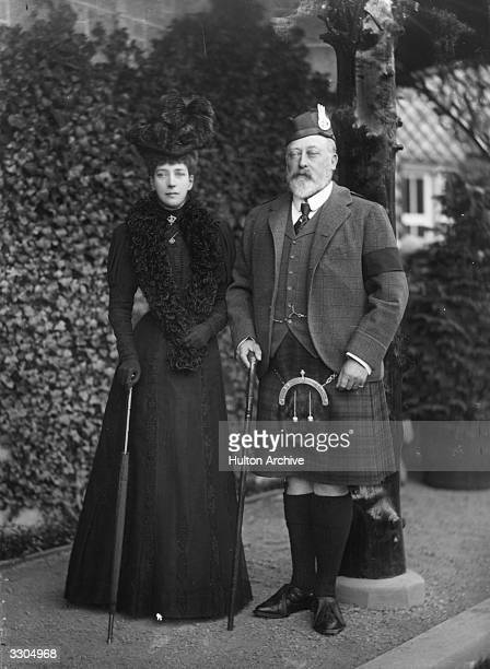King Edward VII and his queenconsort Queen Alexandra