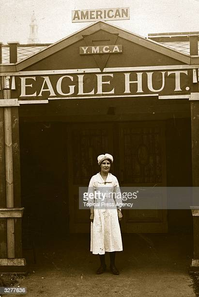 A worker for the YMCA at the American Eagle Hut