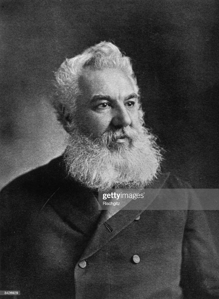 <a gi-track='captionPersonalityLinkClicked' href=/galleries/search?phrase=Alexander+Graham+Bell&family=editorial&specificpeople=114041 ng-click='$event.stopPropagation()'>Alexander Graham Bell</a>, Scots born American inventor who produced the first intelligible telephonic transmission and later formed the Bell Telephone Company. He also founded the journal, 'Science'.