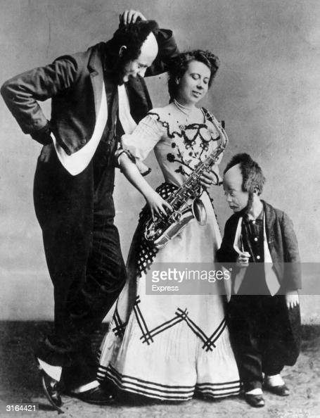 American comic actor and clown of the silent screen Buster Keaton as a child with his parents Joe and Myra with whom he formed a family vaudeville act