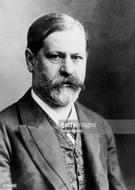 Studio portrait of Austrian psychoanalyst Sigmund Freud