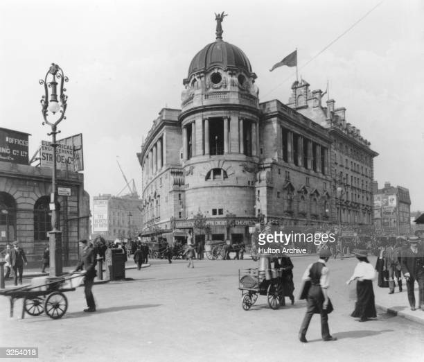 The exterior of the Gaiety Theatre on the Strand in London