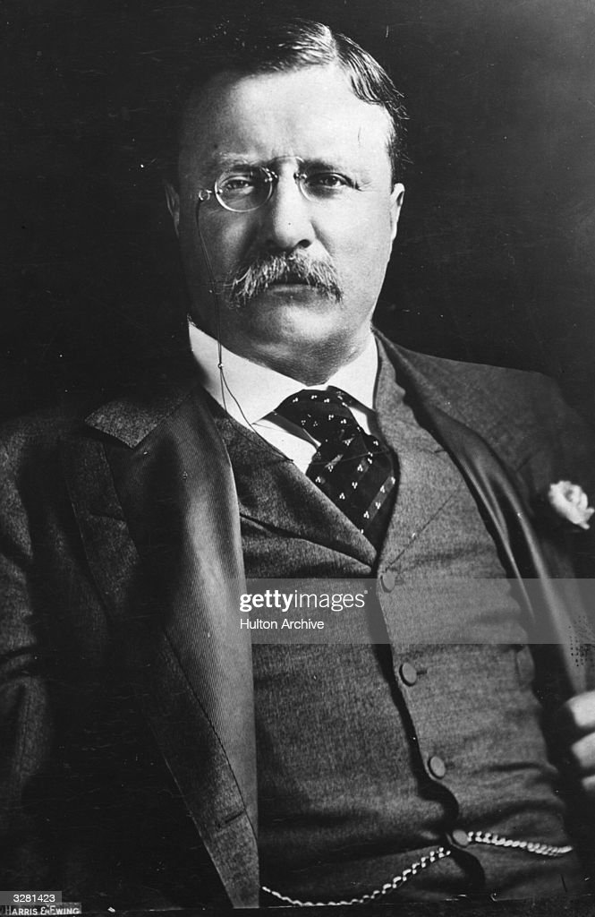 <a gi-track='captionPersonalityLinkClicked' href=/galleries/search?phrase=Theodore+Roosevelt+-+US+President&family=editorial&specificpeople=71238 ng-click='$event.stopPropagation()'>Theodore Roosevelt</a> (1858 - 1919), the 26th President of the United States of America (1901-09).