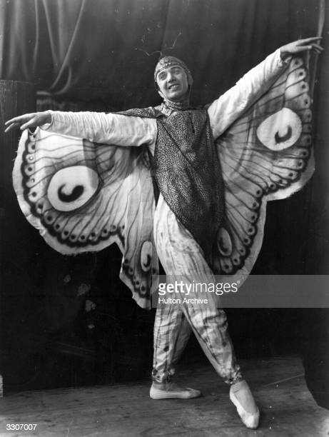 A member of the Haines Ballet Company dressed as a butterfly