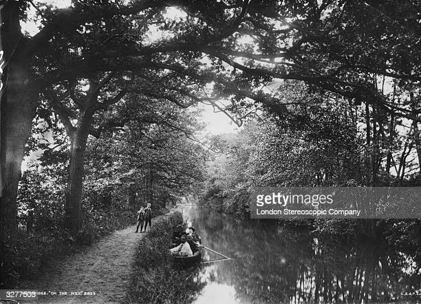 A river scene at Weybridge on the River Wey