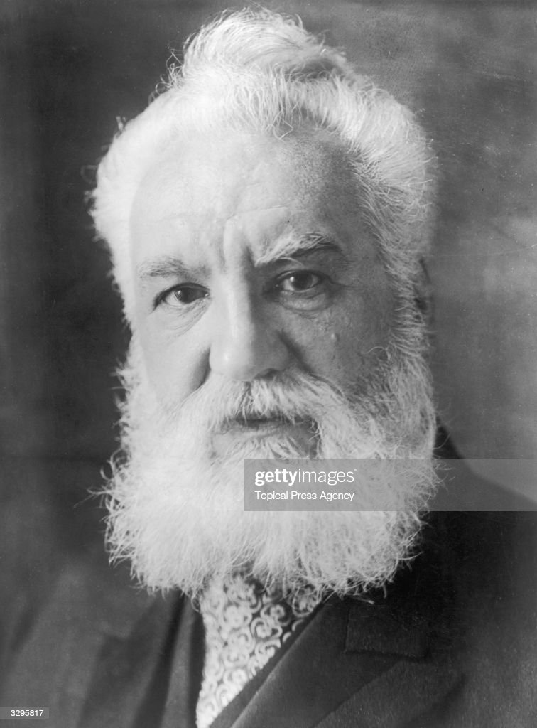 <a gi-track='captionPersonalityLinkClicked' href=/galleries/search?phrase=Alexander+Graham+Bell&family=editorial&specificpeople=114041 ng-click='$event.stopPropagation()'>Alexander Graham Bell</a> (1847 - 1922) a Scots-born American inventor who established the Bell Telephone Company. Bell, born in Edinburgh, worked with his father, Scottish educator Alexander Melville Bell, before emigrating to North America in 1871. In 1873 he became Professor of Vocal Phisiology at Boston University. He experimented with various devices for transmitting sound until he sent the first acoustic message to his assistant in 1875. Bell patented the telephone the next year and went on to invent the photophone and gramophone. He also founded the journal 'Science' and invented the tetrahedral kite.