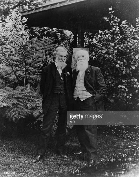 American naturalists and writers John Muir and John Burroughs Muir was the founder of the conservationist group the Sierra Club and campaigned...