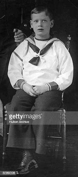 George Edward Alexander Edmund the Duke of Kent as a child in traditional sailor suit