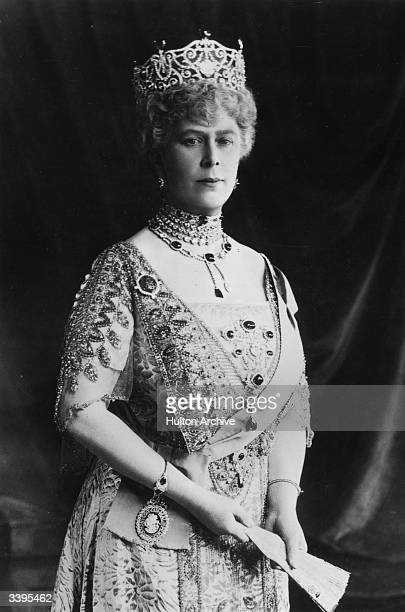 Queen Mary consort of King George V born Princess Victoria Mary Augusta Louise Olga Pauline Claudine Agnes of Teck
