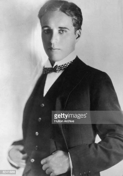 Studio portrait of Britishborn actor and filmmaker Charlie Chaplin as a young man