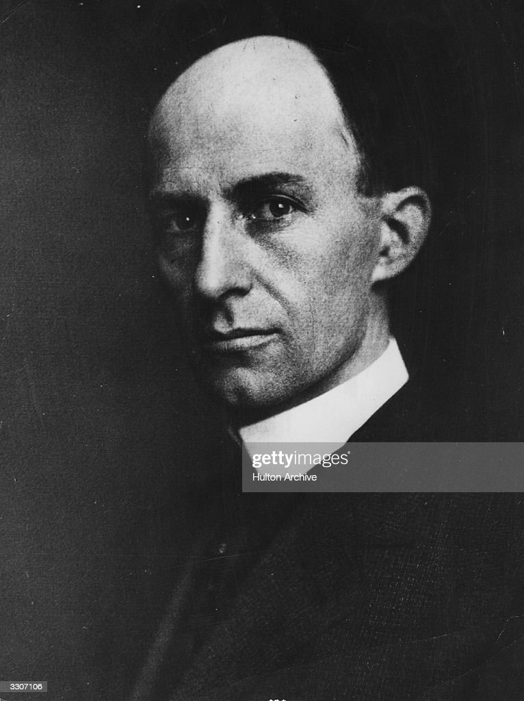 The US aviation pioneer Wilbur Wright, (1867 - 1912), born in Indiana. He and his brother Orville designed and flew the first powered aircraft, at Kitty Hawk, in 1903.