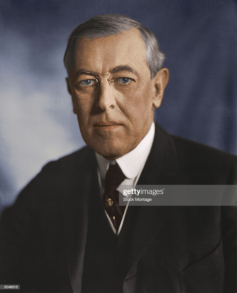 <a gi-track='captionPersonalityLinkClicked' href=/galleries/search?phrase=Woodrow+Wilson&family=editorial&specificpeople=92997 ng-click='$event.stopPropagation()'>Woodrow Wilson</a> (1856 - 1924), twenty-eighth president of the United States of America.