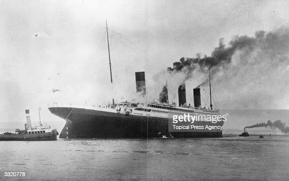 The 1000 luxury White Star liner 'Titanic' which sank on its maiden voyage to America in 1912 seen here on trials in Belfast Lough