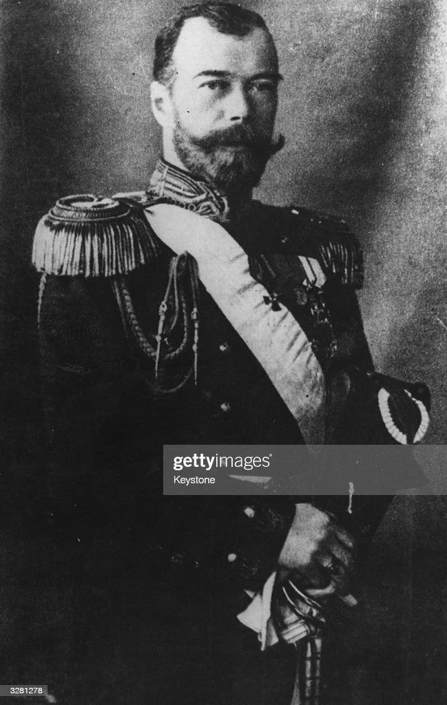 Tsar Nicholas II of Russia (1868 - 1918).