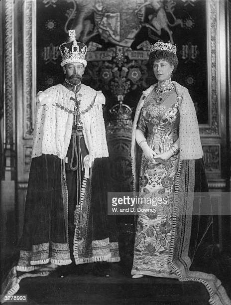 George V who succeeded to the throne as George V on the death of his father Edward VII in 1910 He is with his wife Queen Mary formerly Princess Mary...