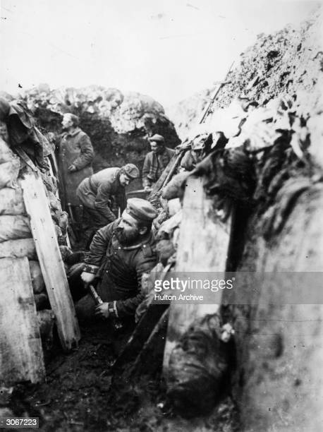 German soldiers in the trenches during WW I